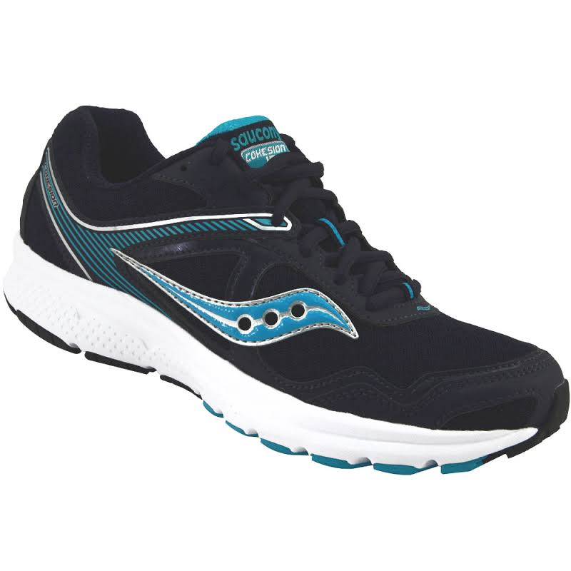 Saucony Grid Cohesion Fabric Low Top Lace Up Running, Navy Blue,