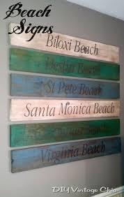 beachy signs diy vintage chic signs