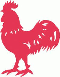 male chicken clipart image black and white cartoon silhouette of