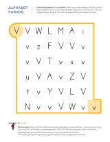 letter v worksheets sparks
