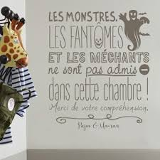 citation chambre stickers decoratifs chambre enfant stickers citation enfant