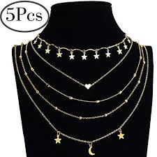 necklace chokers images Outee 5 pcs layered necklace chokers simple layered jpg