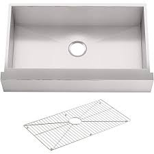 30 inch kitchen sink base cabinet kohler 3936 na vault tm 29 1 2 x 21 1 4 x 9 5 16 mount single bowl stainless steel with apron for 30 cabinet kitchen sink 30 inch
