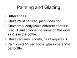 painting and glazing similarities look similar ppt video