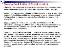 Letter Of Credit Validity export procedure 2012 2015