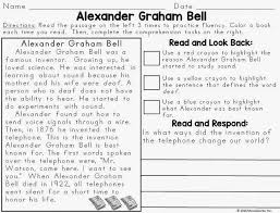 reading passage 1st grade text evidence reading passages biography edition miss decarbo