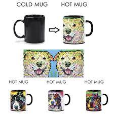 australian shepherd funny art dog animal color changing coffee mug australian shepherd heat