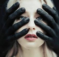 Hands On Face Meme - black hands over white girl s face blank template imgflip