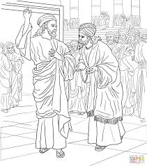 coloring jesus pharisees and sadducees question jesus coloring page free