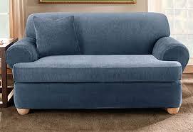 Sofa Seat Cushion Slipcovers Sure Fit T Cushion Sofa Slipcover Sofas
