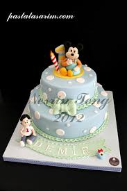baby mickey mouse cake demir 1st birthday medium flickr