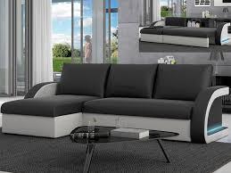 canape angle noir et blanc canapé d angle convertible simili noir blanc corneille