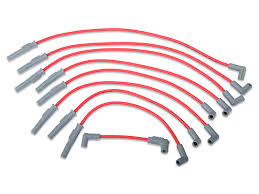msd mustang super conductor 8 5mm spark plug wires red 32209 94