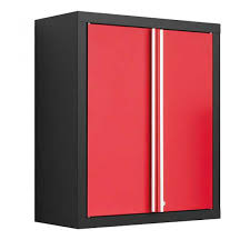 furniture red and black metal wall garage cabinet superb metal