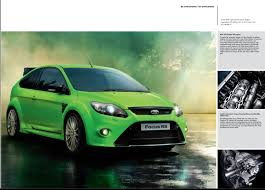 Focus Rs 2009 2009 Ford Focus Rs Brochure