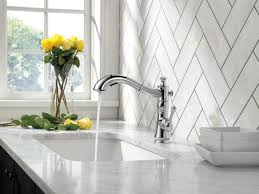 delta white kitchen faucet sink faucet awesome modern delta cassidy single handle pull