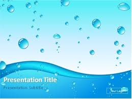 Water Powerpoint Templates by Blue Water Drops Abstract Background Powerpoint Template