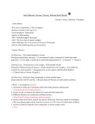 Was John Dalton Color Blind John Dalton U0027s Atomic Theory Billiard Ball Model
