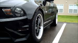 Matte Black Mustang Wheels 2011 Mustang Gt Black Bullitt Rims Youtube