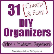 Diy Entryway Organizer Day 15 Entryway Mudroom Organizers 31 Cheap U0026 Easy Diy