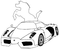 imagenes de ferraris para dibujar faciles carros para colorear