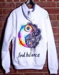 find balance unisex hoodie u2013 electro threads