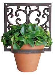 articles with panacea wall mounted flower pot holder tag wall pot