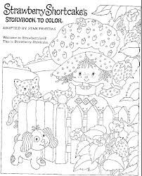 kids n fun coloring page strawberry shortcake strawberry