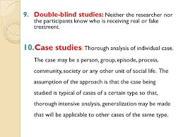 What Are Double Blind Studies Chapter 6 Study Design Ppt Video Online Download