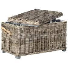 large wicker storage chest unique rattan storage chest rattan