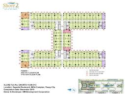 Centralized Floor Plan by Smdc Shore 2 Residences