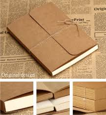 2013 vintage kraft cover paper a4 a5 blank doodle notebook nt001