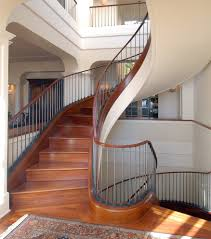 handrails staircase traditional with curved staircase crown moulding