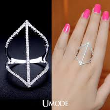 long silver rings images Best double chevron rings products on wanelo jpg
