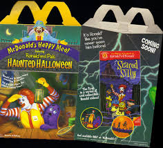on black mcdonald u0027s happy meal featuring ronald and pals haunted