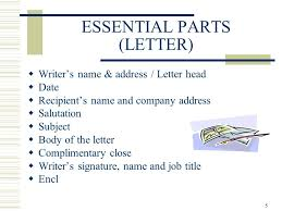Business Letter Language 1 business correspondence essential parts content language