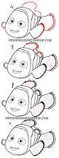 how to draw nemo from disney u0027s finding dory step by step drawing