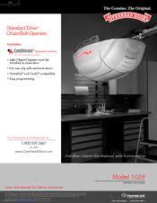 Overhead Door Opener Manual Overhead Door 1026 Manuals