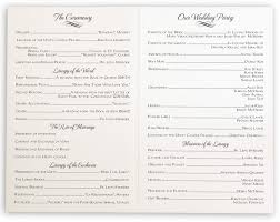 linked hearts wedding programs wedding ceremony programs and