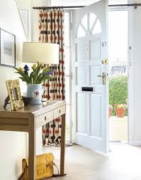 Hallway Door Curtains Neutral Hallway With Door Curtain Jpg 850 1080 Hallway