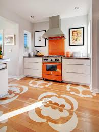 vinyl kitchen flooring ideas modern small kitchen design presenting white finish oak wood