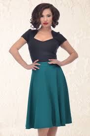 high waisted skirt high waisted thrills swing skirt in teal