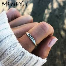 simple metal rings images Mfnfyh fashion carved letter mom women rings 2018 simple metal jpg