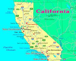 map of california california lessons tes teach