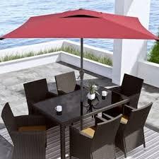 Square Patio Umbrellas Black Patio Umbrellas For Less Overstock