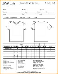 Spreadsheet Word T Shirt Order Form Template Excel T Shirt Order Form Template