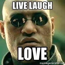 live laugh love meme live laugh love what if i told you meme generator