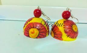 decoupage earrings deepucreations quilling decoupage earrings