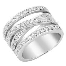 rings silver images Silver cubic zirconia 4 strand cross over ring 0004815