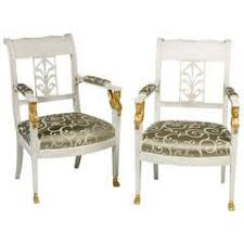 Stylish Armchairs Pair Of Stylish Armchairs Gustavian Style Swedish Painted For